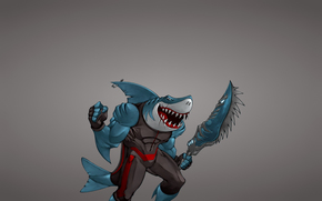 sword, weapon, hook, toothy, shark, FISH, minimalism, mutant