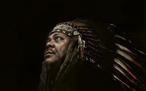 Injun, portrait, man