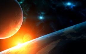 Nebula, star, bright, space, Planet