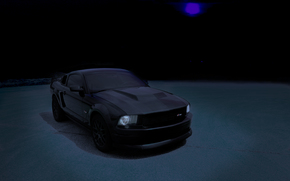 ford, mustang, gt, shelby, gt500, American, muscle, roush, saleen, hurst, svt, cobra, black, night, pro, photoshop, wallpaper