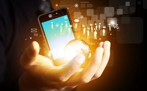 redes sociales, de alta tecnología, Internet