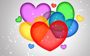 абстракция, влюбленные, валентин, сердечко, сердце, святой