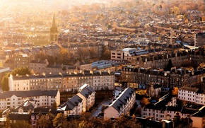 autumn, Edinburgh, building, Scotland, home, panorama, morning, city