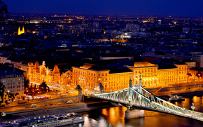 architecture, light, road, Danube, Budapest, building, machinery, river, Hungary, home, Freedom Bridge