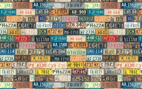 Texture, Signs, figures, states, USA, background, letters, Room
