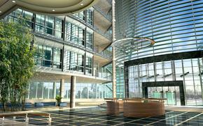 progetto, architettura, vetro, costruzione, finestre