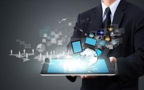 мужчина, Hi-Tech, картинки, планшет, ноутбук, схема