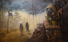 área, Ucrânia, Pripyat, soldado