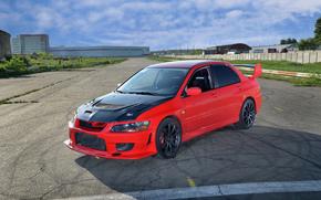 rosso, Lancer, Mitsubishi, Mitsubishi, Cappuccio, Carbonio, Evoluzione
