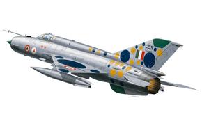 многоцелевой, первый, боевой, более, ВВС, сверхзвуковой, использовался, истребитель, разработанный, самый, с, треугольным, арт, Индии., СССР, вооружении, ОКБ Микояна, в, советский, на, мире, Гуревича, распространенный, состоял