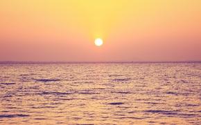 natura, paesaggio, mare, cielo, Bella scena al tramonto