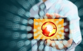 Internet, hi-tech, SMARTPHONE, globe