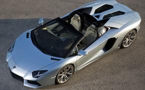 Lamborghini, ламборгини, родстер, вид сверху