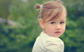 взгляд, ребёнок, настроение, девочка