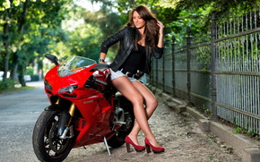 motorcycle, pose, girl, motorcycles