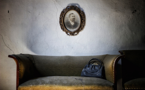 wall, sofa, chair, picture