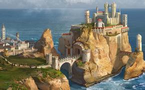 Rocce, Le Cronache del Ghiaccio e del Fuoco, castello, Art, puntellare, mare