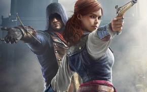 assassin's creed, Assassin's Creed Unity, Arno Dorian, Elise, games