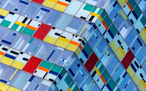 цвета, окна, здание