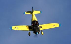 учебно-тренировочный, небо, пилотажный, самолет, двухместный