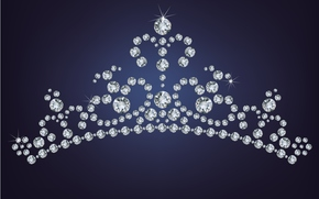 камешки, корона, фон, стразы