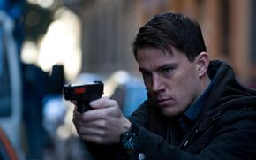 Knockout, man, Channing Tatum, gun, actor