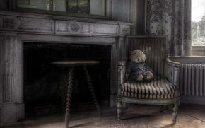 room, fireplace, chair, Bruin