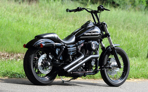 motorcycles, black, bike, Harley-Davidson, CHOPPER