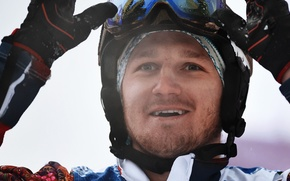 Россия, олимпийских игр, серебряный призёр, Николай  Олюнин, сноубордист, улыбка, сноубордкросс