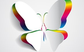 wings, background, butterfly, color