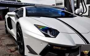 передок, суперкар, фары, Lamborghini, машина
