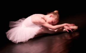 芭蕾舞演员, 指出, 女孩