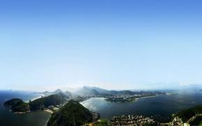 Islands, janeiro, de, landscape, Rio, sky, beautiful, sea, Brazil, Rio de Janeiro, beautiful