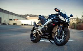 black, motorcycle, Aprilia, shadow, sky, motorcycles