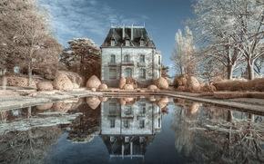 reflection, castle