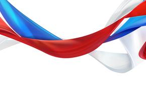 Russ, Widescreen, Bandiera della Russia, paese, Russia Unita, multiscreen, simbolo, EP