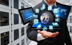 scambio, Internet, hi-tech, cyberspazio, sicurezza, dati