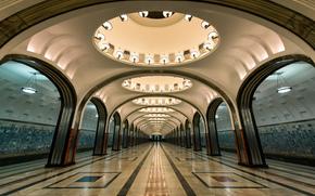 станция Маяковская, московский метрополитен, Замоскворецкая линия