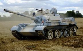 Soviético, tanque, média