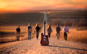 stradale, chitarra, musicisti