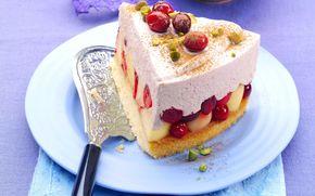 Kuchen, Sahne, Dessert, Lebensmittel, Obst, süß, Kuchen