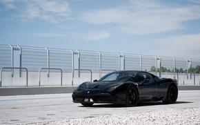 Ferrari, fencing, black, Ferrari
