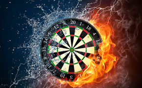 spruzzo, forza, acqua, obiettivo, Elementi, fuoco, scarico, gocce, freccette, fumare, fiamma