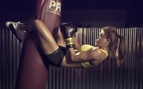 gloves, boxing, girl, sportswoman, Asian