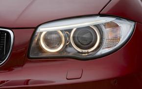 FEUX, rouge, BMW, puissance, Close-up