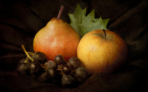 măr, pară, struguri
