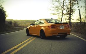 marquage, route, BMW, BMW, zadok, d'orange