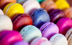 печенье, питание, красочные, миндальное печенье