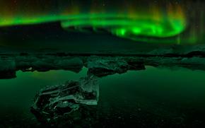 夜, 冰岛, 北极光