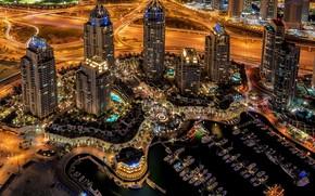 Dubai, città, notte